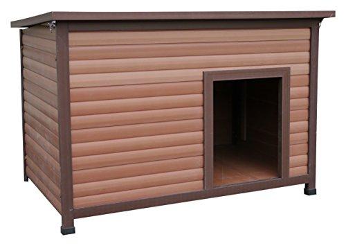 rosewood 02065 wetterfeste flachdach hundeh tte f r kleine hunde aus holz und. Black Bedroom Furniture Sets. Home Design Ideas