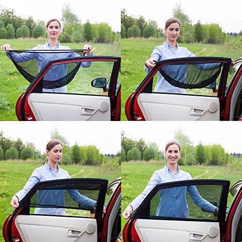 sonnenschutz auto baby 2 st ck neue version unmerklich von au en sonnenblende auto mit uv. Black Bedroom Furniture Sets. Home Design Ideas