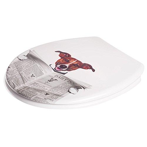 wc sitz mit absenkautomatik duroplast toilettendeckel softclose klobrille motiv hund mit. Black Bedroom Furniture Sets. Home Design Ideas